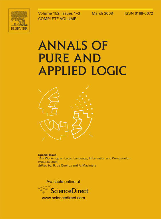 WoLLIC 2002 Special Issue of APAL (Vol. 152, Issue 1)