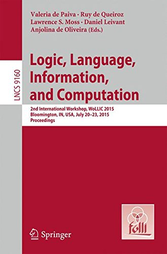 LNCS Proceedings of WoLLIC 2015