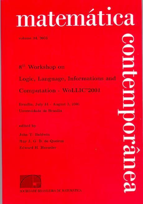 WoLLIC 2001 Special Issue of Matemática Contemporânea